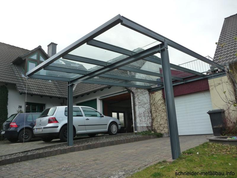 Schneider metallbau kastellaun carports aus glas und for Carport freistehend